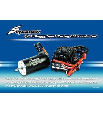 SPower 1/8 E-Buggy Sport Racing ESC Combo Set