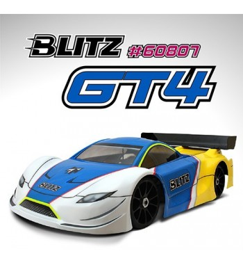 BLITZ 1/8 GT4 Body with Wing (1,0mm)