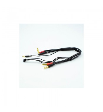 2S CHARGE CABLE LEAD w/4mm & 5mm BULLET CONNECTOR (30cm)