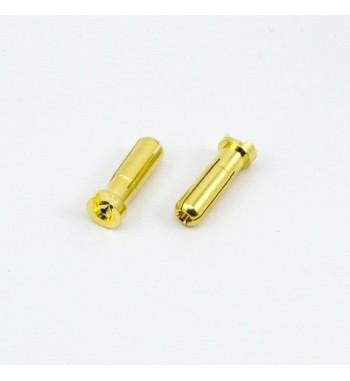 5.0mm BULLET CONNECTOR MALE (2pcs)