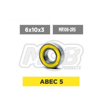 Ball bearings pack 6x10x3 MR106-2RS - 10 pcs