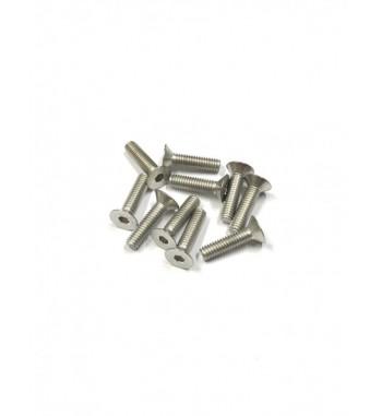 Screws M4x12mm Flat Head - 10 pcs