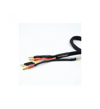 2 x 2S CHARGE CABLE LEAD w/4mm & 5mm BULLET CONNECTOR (60cm)