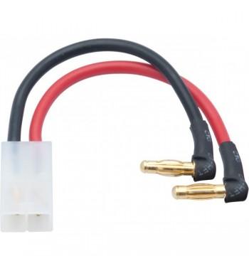 NOSRAM LiPo Hardcase adapter - Tamiya/JST plug to 4mm male plug - 90° angle