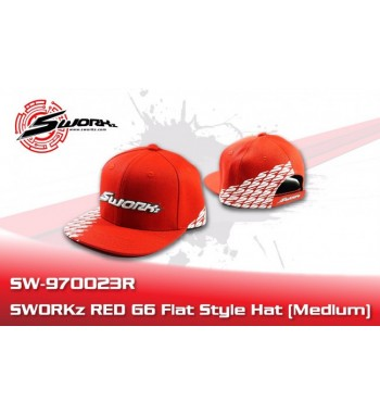 SWORKz G5 Flat Style Cap red